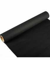 Tafelloper zwart 300 x 40 cm papier trend