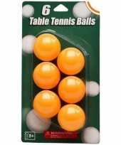 Tafeltennis ballen setje van 6 st oranje trend