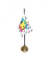 Tafelvlaggetje happy birthday 30 met standaard trend