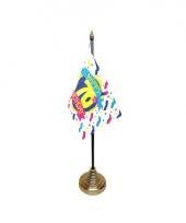 Tafelvlaggetje happy birthday 70 met standaard trend