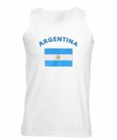 Tanktop met vlag argentinie print trend