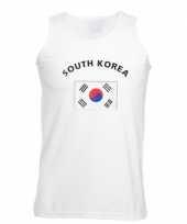 Tanktop met vlag zuid korea print trend