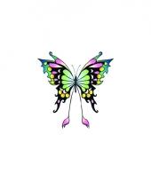 Tatoeages glitter vlinder zwart groen trend