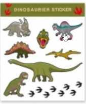 Tattoo stickers dinosaurussen 8 stuks trend