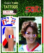 Tattoos frankrijk 9 stuks trend