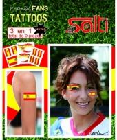 Tattoos spanje 9 stuks trend
