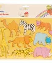 Tekensjablonen dieren trend