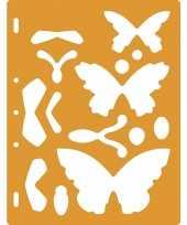 Tekensjabloon vlinders trend