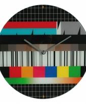 Televisie testbeeld klokken 34 cm trend