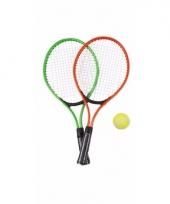 Tennis set groen rood voor kinderen trend