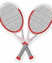 Tennisracket decoratie 25 cm trend