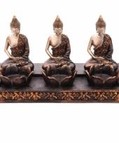 Thaise boeddha 3 theelichthouders trend