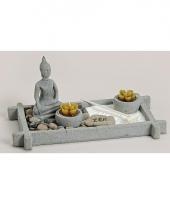 Thaise boeddha zen tuintje met theelichtjes trend