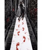 Thema lopers met bloederige voetafdrukken 450 x 60 cm trend