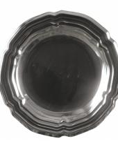 Thema zilver schaal rond 45 cm trend