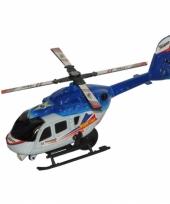 Thunder superior blauwe speel helikopter 21 cm trend