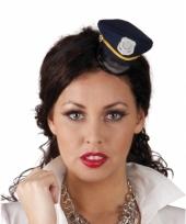 Tiara met kleine blauwe politie pet trend