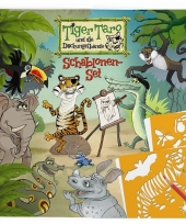 Tiger taro teken sjablonenset trend