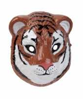 Tijger masker 3d plastic 22cm trend
