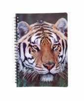 Tijger notitieboek 3d 21cm trend