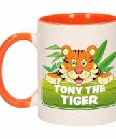 Tijger theebeker oranje wit tony the tiger 300 ml trend