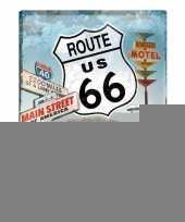 Tinnen wandplaat route 66 amerikaans trend
