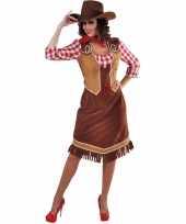 Toppers cowgirl jurk met geruite blouse voor dames trend