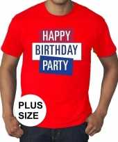 Toppers grote maten rood toppers happy birthday party t-shirt officieel trend