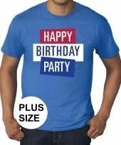 Toppers grote maten toppers happy birthday party heren t-shirt officieel trend 10137573