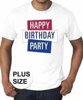 Toppers grote maten wit toppers happy birthday party t-shirt officieel trend