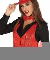 Toppers rode verkleed gilet met pailletten voor dames trend