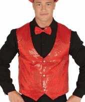 Toppers rode verkleed gilet met pailletten voor heren trend