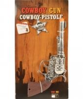 Toppers speelgoed cowboy pistool zilver trend