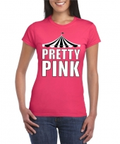 Toppers t-shirt roze pretty pink witte letters dames trend