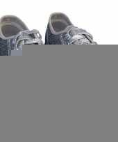 Toppers zilveren glitter disco sneakers schoenen voor dames trend