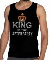 Toppers zwart toppers king of the afterparty glitter tanktop shirt heren trend