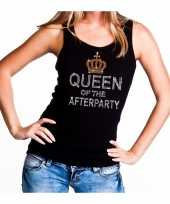 Toppers zwart toppers queen of the afterparty glitter tanktop dames trend