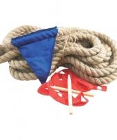Touwtrekken spel met 10 meter touw trend