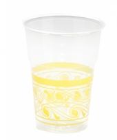 Transparant met gele bekers 10 stuks trend