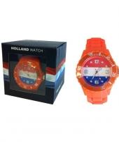 Trendy horloge oranje voor dames en kinderen trend