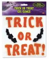 Trick or treat vleermuis raamsticker trend