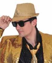 Trilby hoed gouden pailletten trend