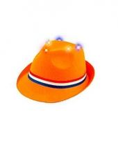 Trilby hoedje oranje met lichtjes trend