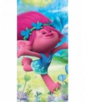 Trolls happy poppy badlaken 70 x 140 cm trend