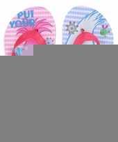 Trolls teenslippers roze blauw voor meisjes trend