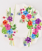 Tropical thema bordjes 27 cm trend