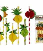 Tropische fruit rietjes 8 stuks trend