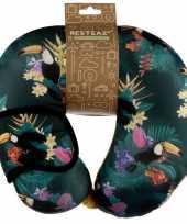 Tropische print nekkussen met slaapmasker voor kinderen trend