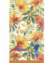 Tropische print tafellaken tafelkleed 138 x 220 cm herbruikbaar trend