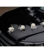 Trouwauto rozen met tule 4x trend